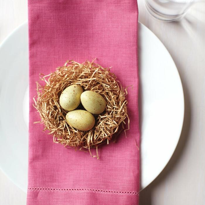 déco assiette nid de pâques diy idée