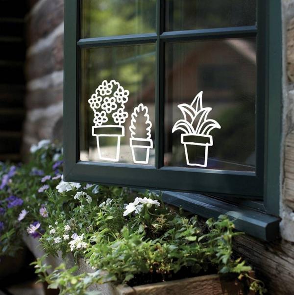 déco de pâques extérieur et jardin décoration de fenêtre