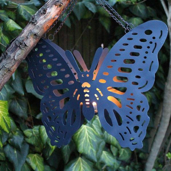 déco de pâques extérieur et jardin papillon en métal