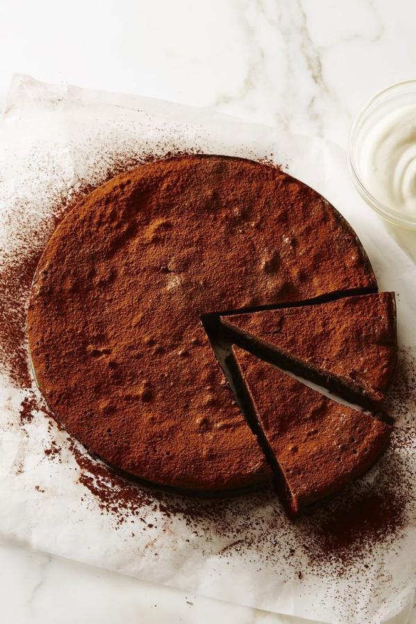 dessert de Pâques gâteau au chocolat
