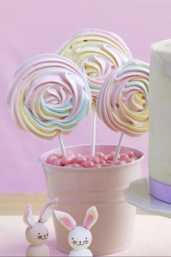 dessert de Pâques meringue Pops