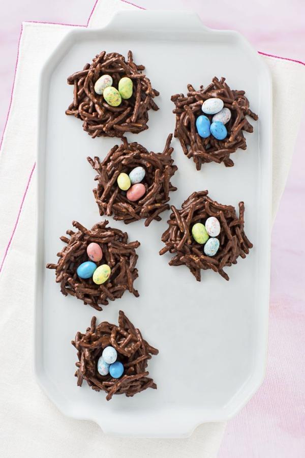 dessert de Pâques nids de chocolat