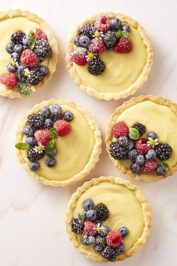 dessert de Pâques petites tartes sucrées