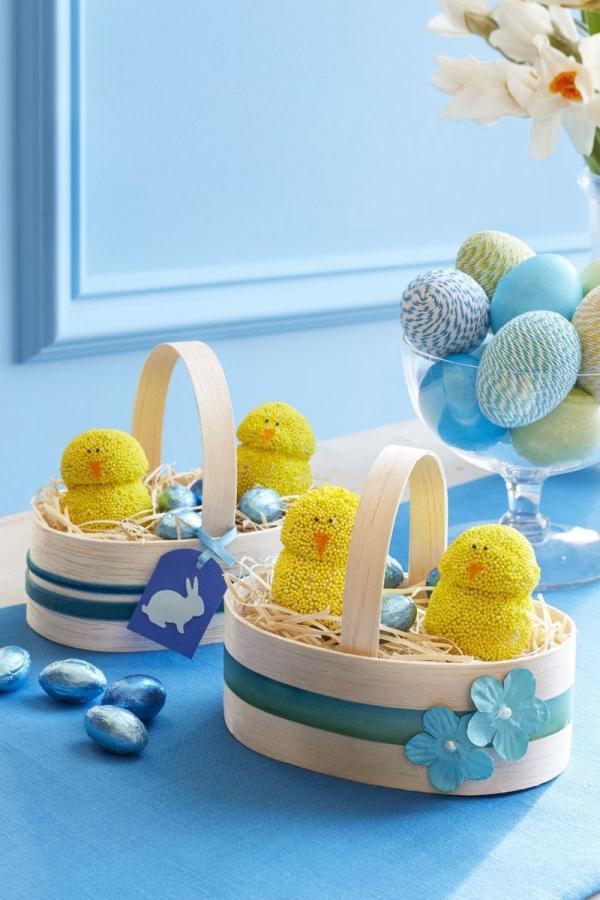 dessert de Pâques poussins de printemps