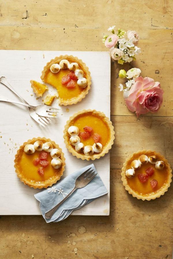 dessert de Pâques tartes acidulées aux agrumes