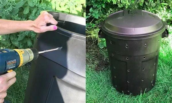 diy composteur bas poubelle en plastique