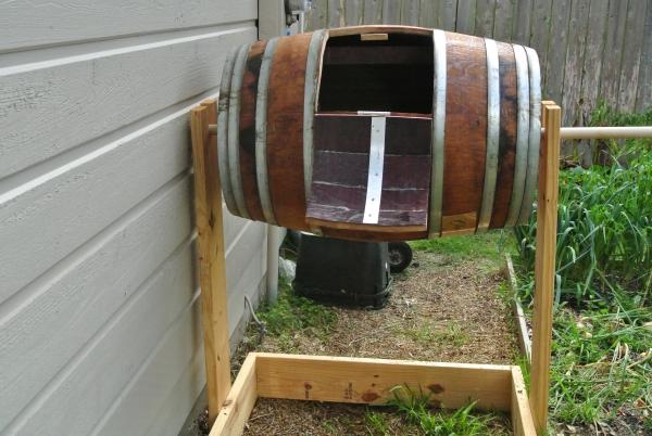 diy composteur tonneau à vin