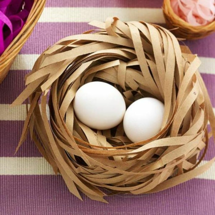 diy projet nid de pâques