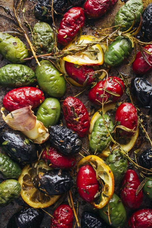 entrée Pâques des olives grillées au citron