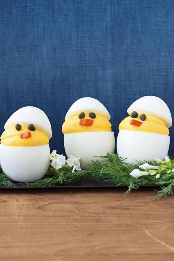 entrée Pâques petits poussins diables