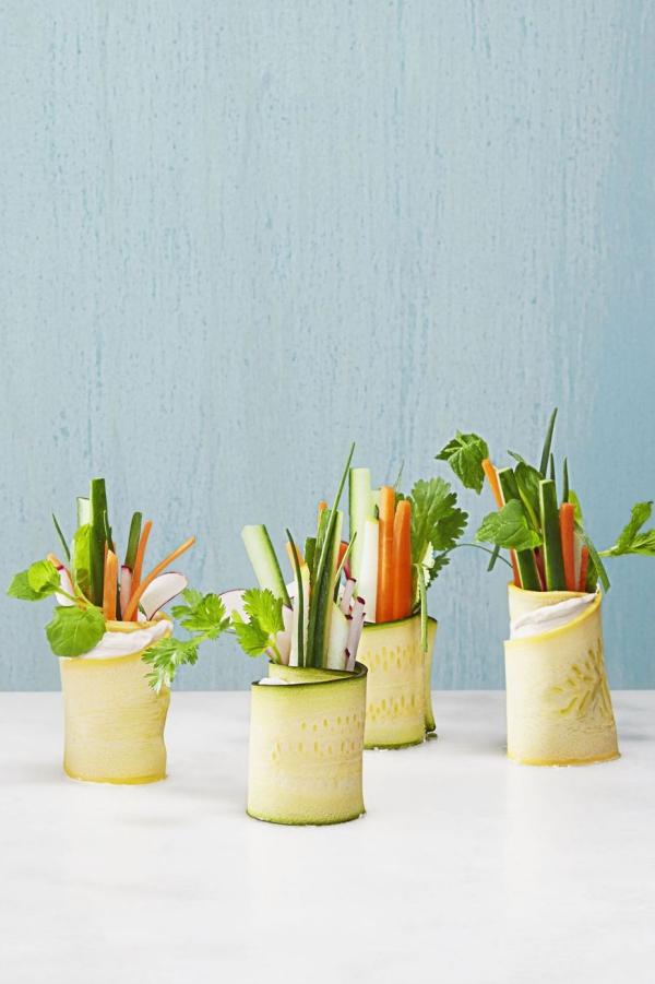 entrée Pâques rouleaux de légumes