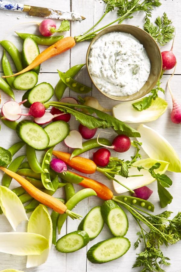 entrée Pâques une portion de légumes