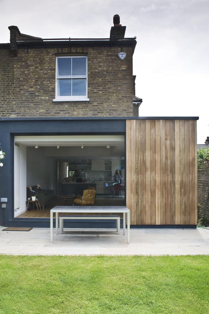 extension maison véranda comme un garage