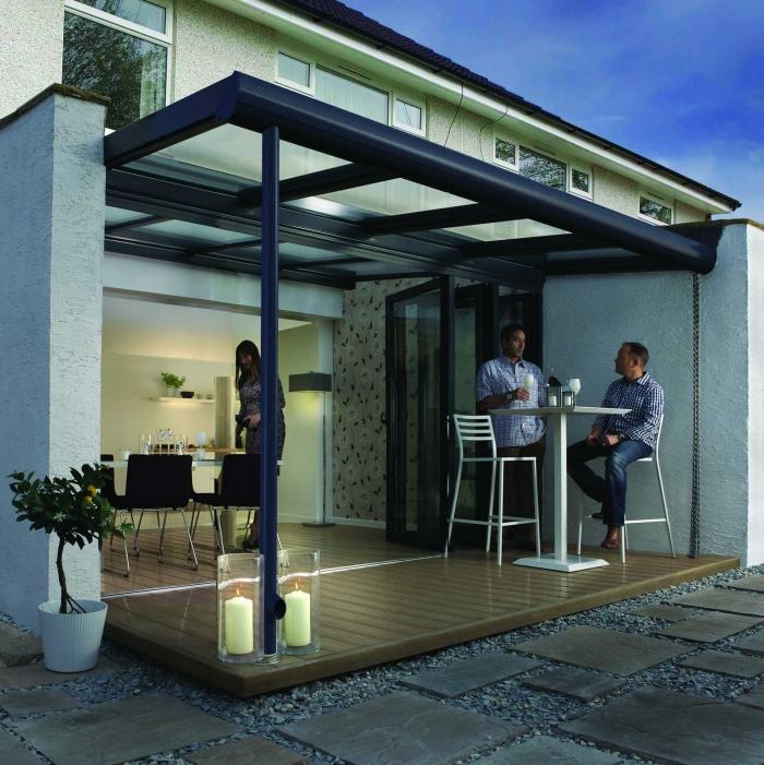 extension maison véranda construction métallisée