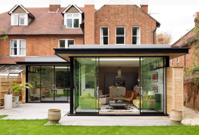 extension maison véranda construction moderne