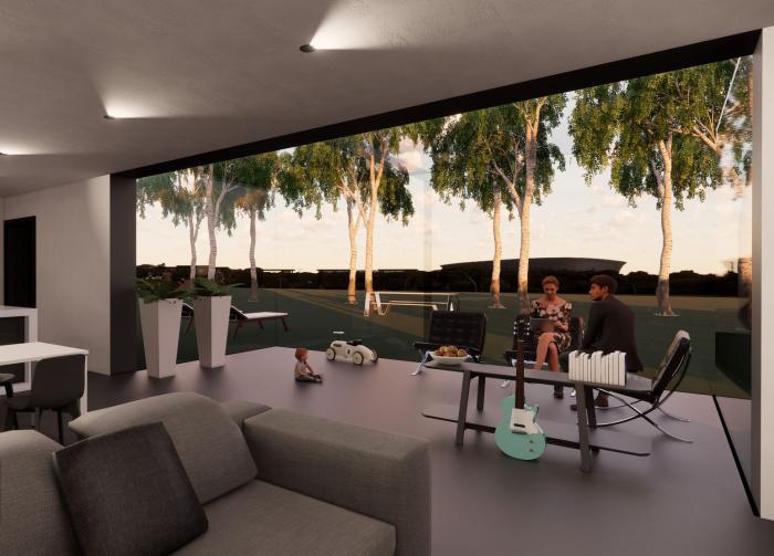 extension maison véranda large espace moderne