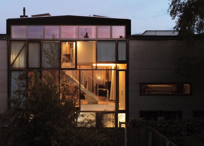 extension maison véranda terrasse regardant vers la cour