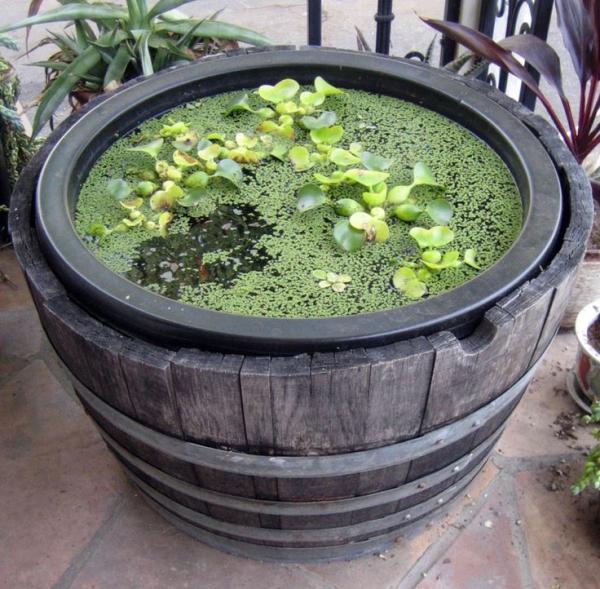 fabriquer soi-même un bassin aquatique extérieur tonneau