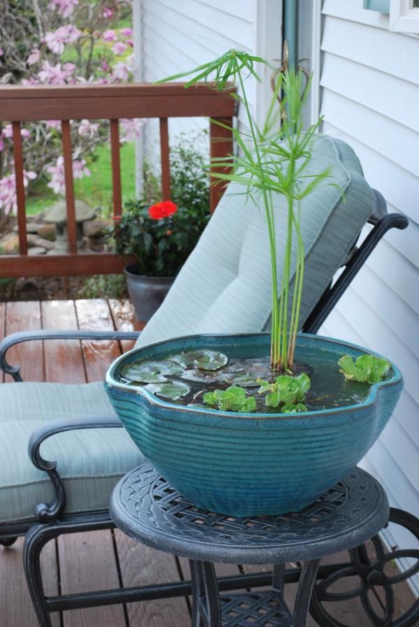 fabriquer soi-même un bassin aquatique pour la terrasse
