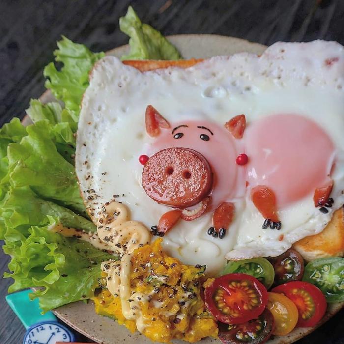 faire cuire des oeufs quel joli cochon