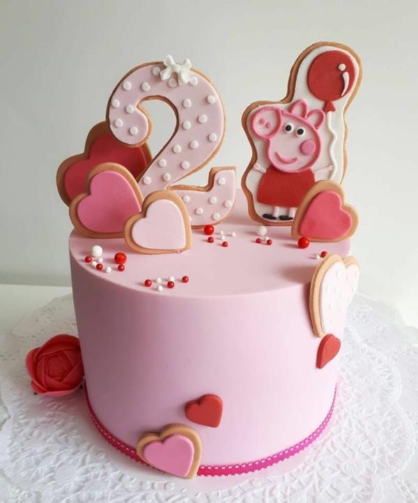 gâteau peppa pig anniversaire fille 2 ans