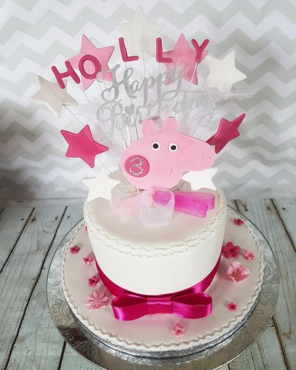 gâteau peppa pig anniversaire fille 3 ans
