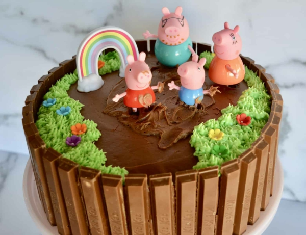 gâteau peppa pig au chocolat