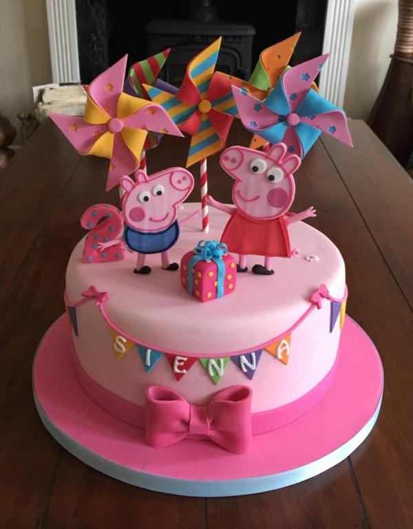 gâteau peppa pig et george pig