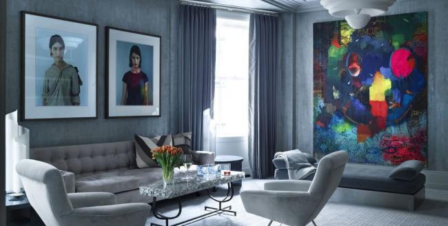 idée déco salon gris luxueux mais familial