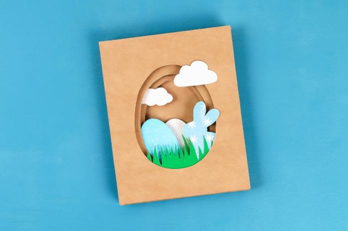 idée papier craft carte joyeuses pâques