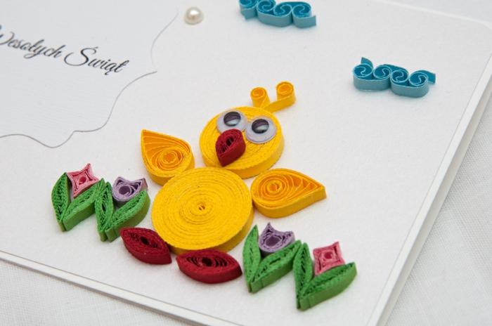 idée unique carte joyeuses pâques quilling