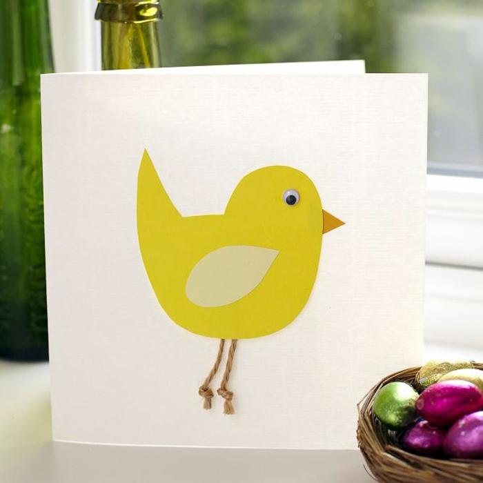 jolie idée de carte joyeuses pâques