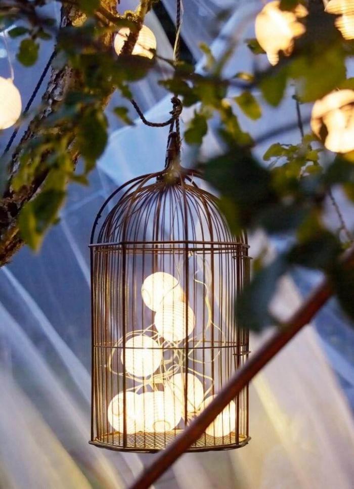 lanterne extérieur à poser grande taille boules lumineuses