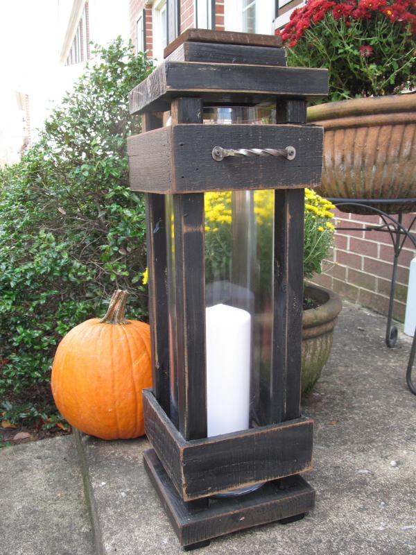 lanterne extérieur à poser grande taille du bois récupéré