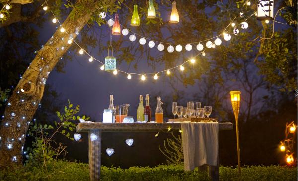 lanterne extérieur à poser grande taille guirlandes d'ampoules