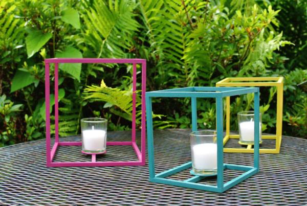 lanterne extérieur à poser grande taille tiges carrées en bois