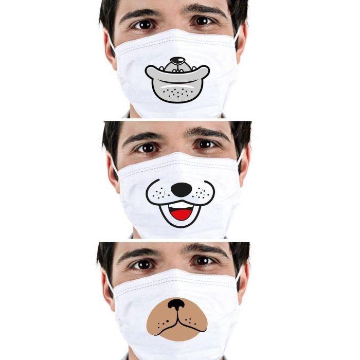 masque de protection avec dessin animal