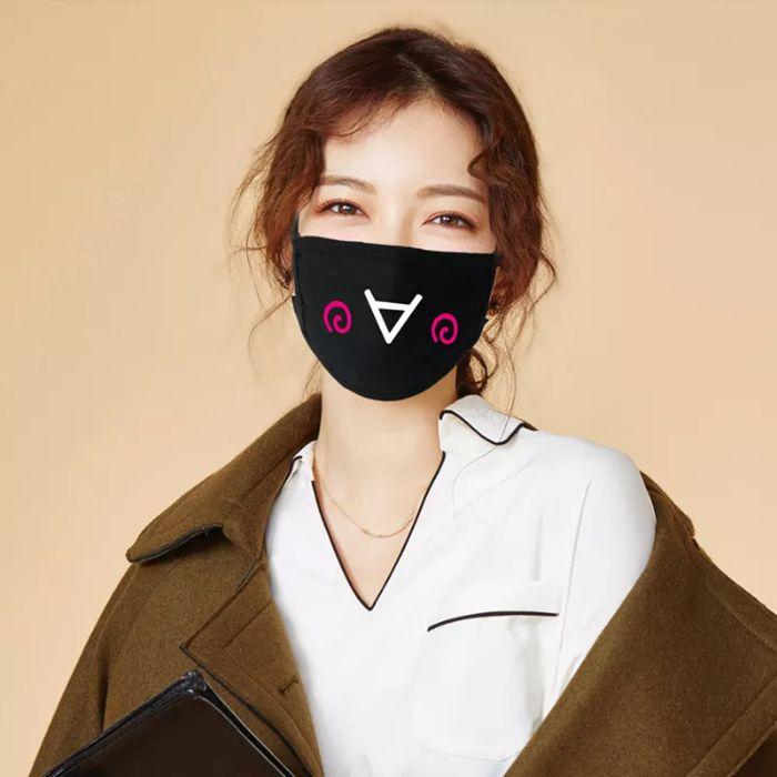masque de protection en noir idée moderne