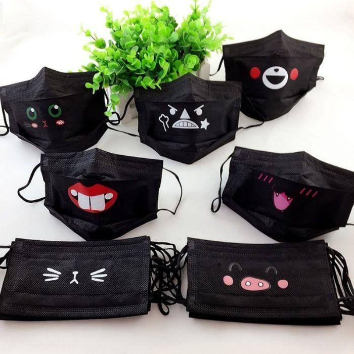 masque de protection idée amusant couleur noir