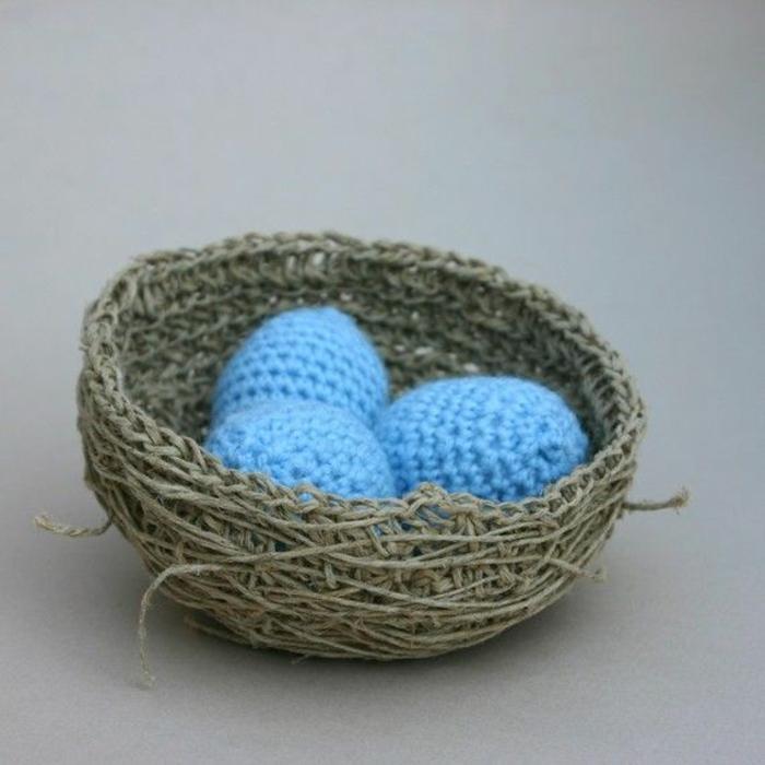nid de pâques à tricoter