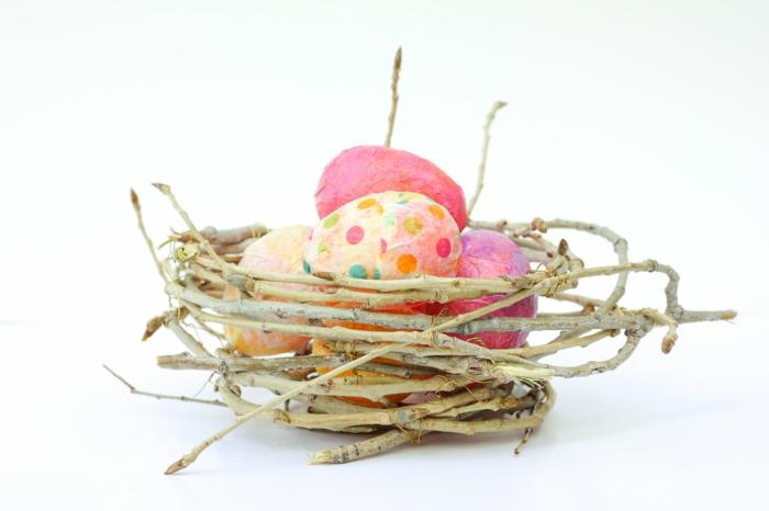 nid de pâques comment fabriquer facilement et rapidement