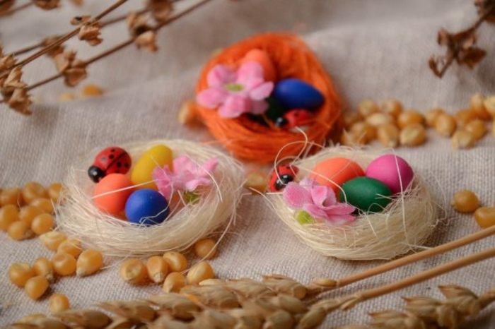 nid de pâques déco table festive