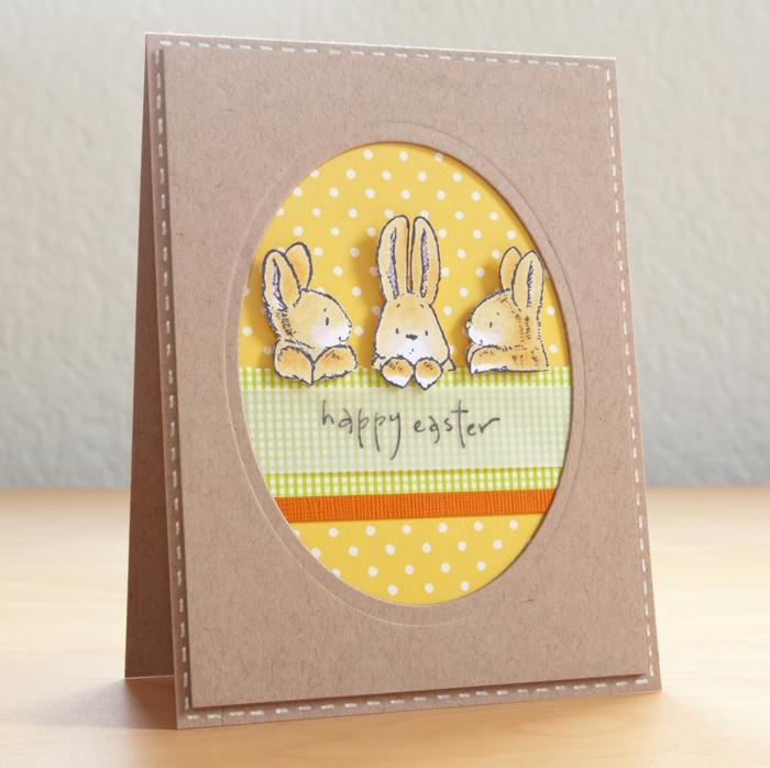papier craft carte joyeuses pâques