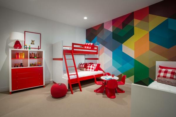peinture géométrique chambre d'enfant