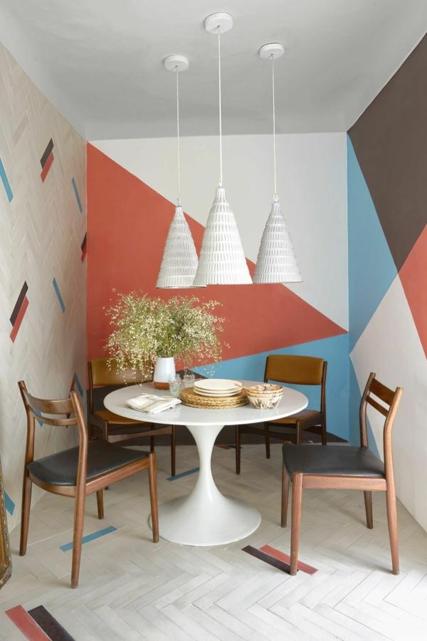 peinture géométrique salle à manger