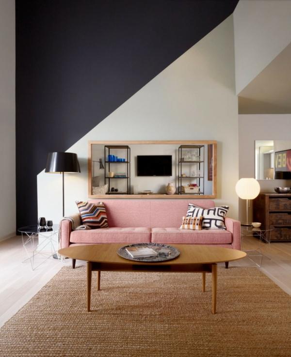 peinture géométrique salon