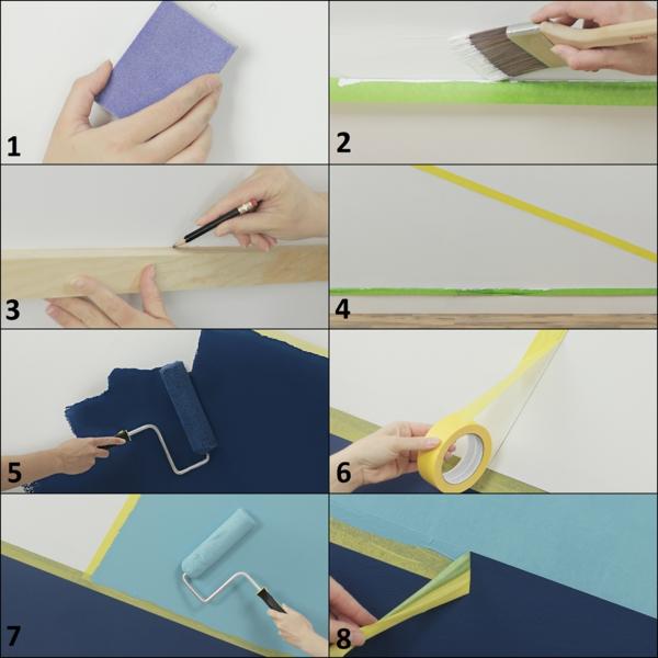 peinture géométrique technique tutoriel