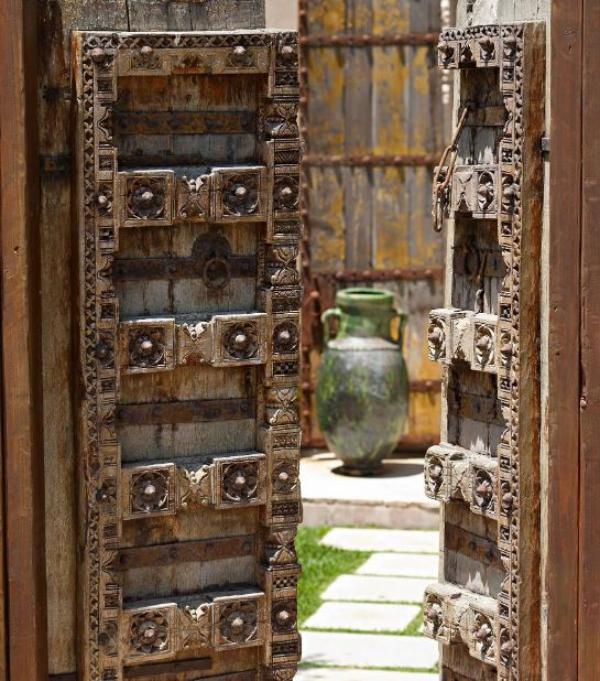 portillon de jardin en bois style européen