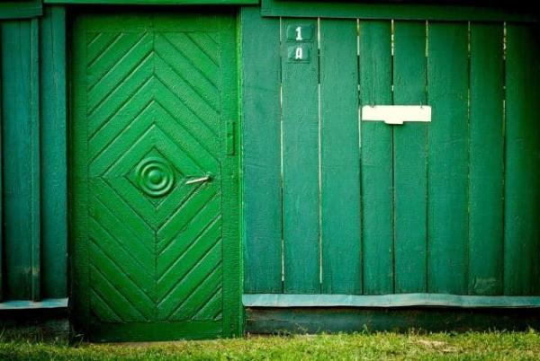 portillon de jardin vert artistique