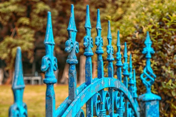 portillon de jardin vintage en fer forgé